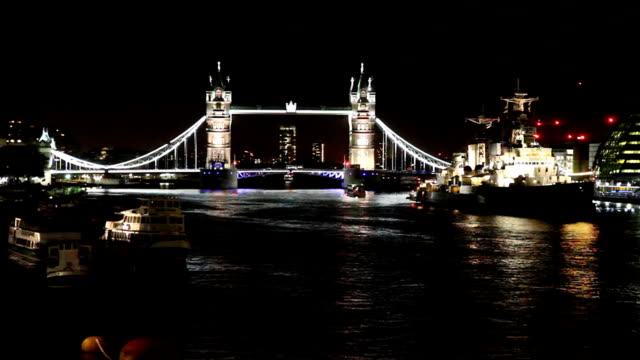 HD: Tower Bridge At Night video