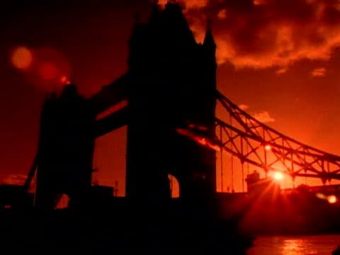 Tower Bridge at Sunset video