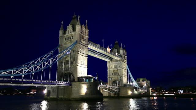 HD: Tower Bridge in London at night video