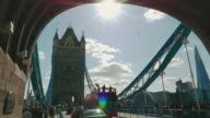 Tower Bridge in London, England video