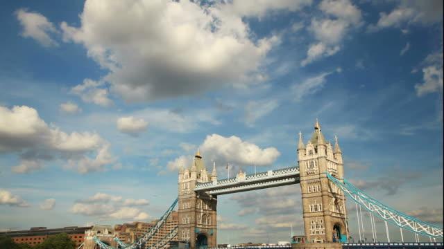 Tower bridge London timelapse video