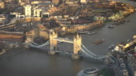 Tower Bridge, London, UK, from top view video