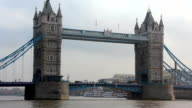 Tower Bridge over river Thames, London, England video
