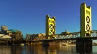 Tower Bridge over Sacramento River video