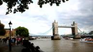 Tower Bridge panning right video