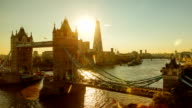 Tower Bridge Sunset Time Lapse video