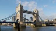 Tower Bridge Sunshine Time Lapse video
