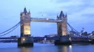 Tower Bridge Time Lapse at Dusk video