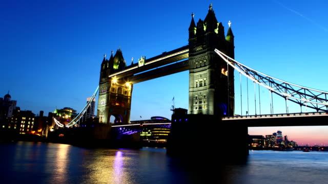 Tower Bridge time lapse video video