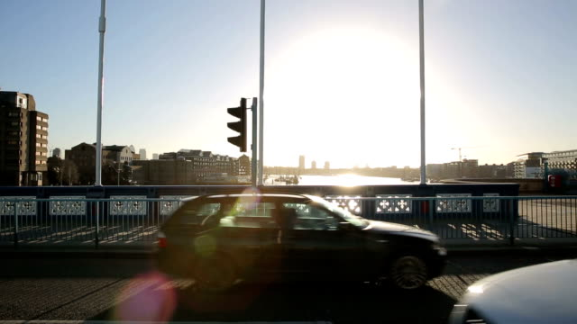 Tower Bridge Traffic in the morning view video