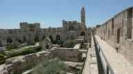 Tower of David and archeological garden in Jerusalem, Israel. video