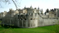 Tower of London, west side, with zoom in. video