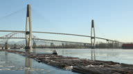 Towing Log Boom in Winter, Fraser River video