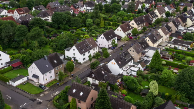 AERIAL: Town houses in suburban area video