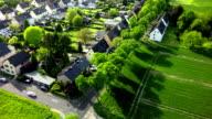 AERIAL : Town in Germany video