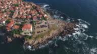 4K Town of Sozopol, aerial view, Bulgaria video