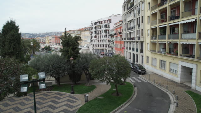 Town view in mediterranean country video