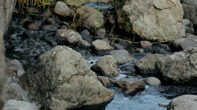 Toxic Liquid Flowing Between Stones video