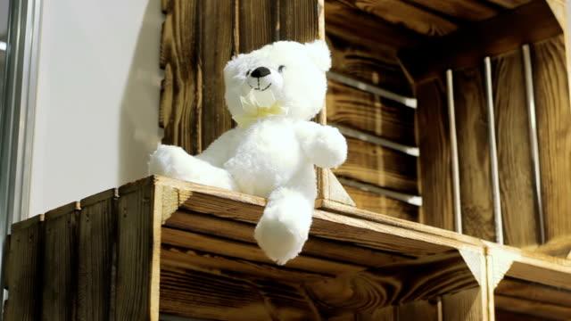 Toy bear on box, abandon concept video