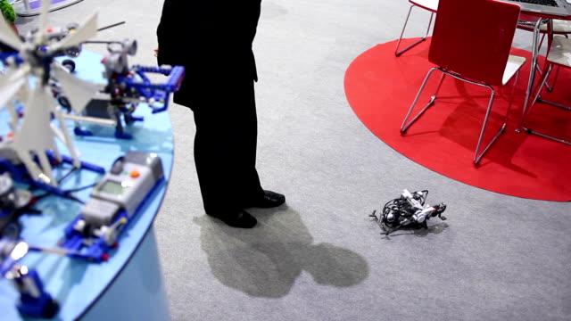 toy robot on floor video