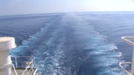 Trace of the ship in an ocean video