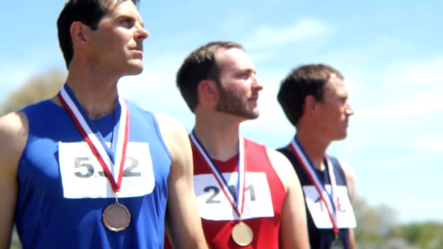 Track athletes with medals video