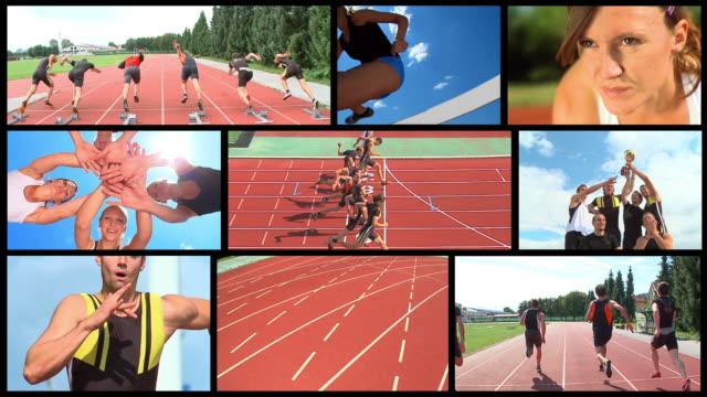 HD LOOP MONTAGE: Track Athletics video