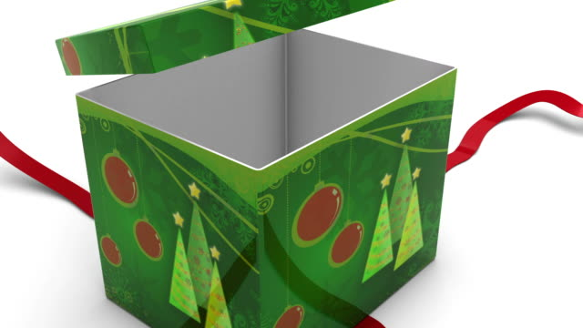 Tracking into Gift Box with Alpha Channel video