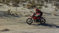 Tracking shot motocross desert video