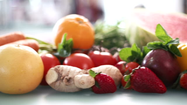 Tracking shot of vegetables video