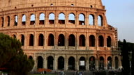 Tracking Shot Roman Colesseum of Rome video