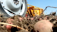 Tractor and potato harvester video