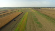 AERIAL Tractor Cultivating The Field video