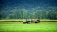 HD - Tractor Fertilizing Field With Manure video