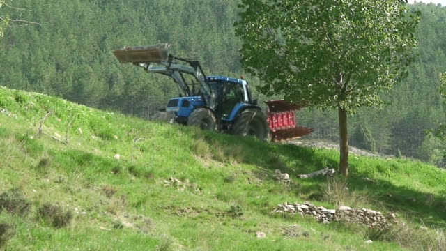 Tractor in a spring day video