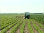Tractor in Midwest Soybean Field 2 video