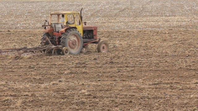 Tractor on  Field video