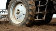 Tractor ploughing video
