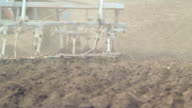 Tractor ploughs video