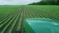 Tractor rides through the green Upolu. The view from the tractor cab video