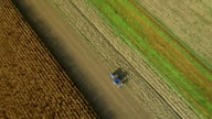 AERIAL Tractor Sowing The Field video