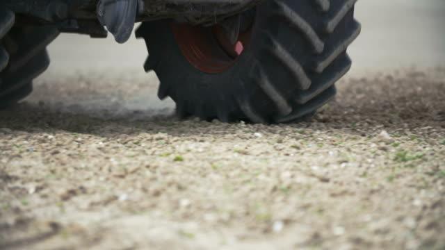 Tractor Wheels On Field video