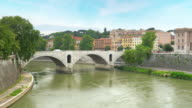Traditional apartments on Tiber River, Rome, Italy video