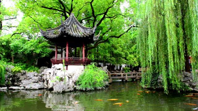 Traditional Chinese private garden - Yu Yuan, Shanghai, China video