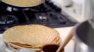 Traditional Dutch Pancakes - Pannenkoeken CNEUFOO595 video