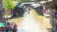 Traditional floating market , Thailand. video