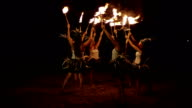 Traditional Hawaiian Fire Hula Dancers video