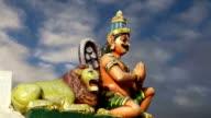 Traditional Hindu temple, South India, Kerala video