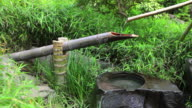 Traditional Japanese Bamboo Fountain video