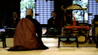 Traditional Monk Ceremony at a Japanese Temple video